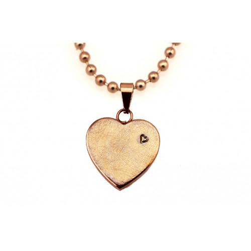 kOmMa5 collana cuore rosé ♡