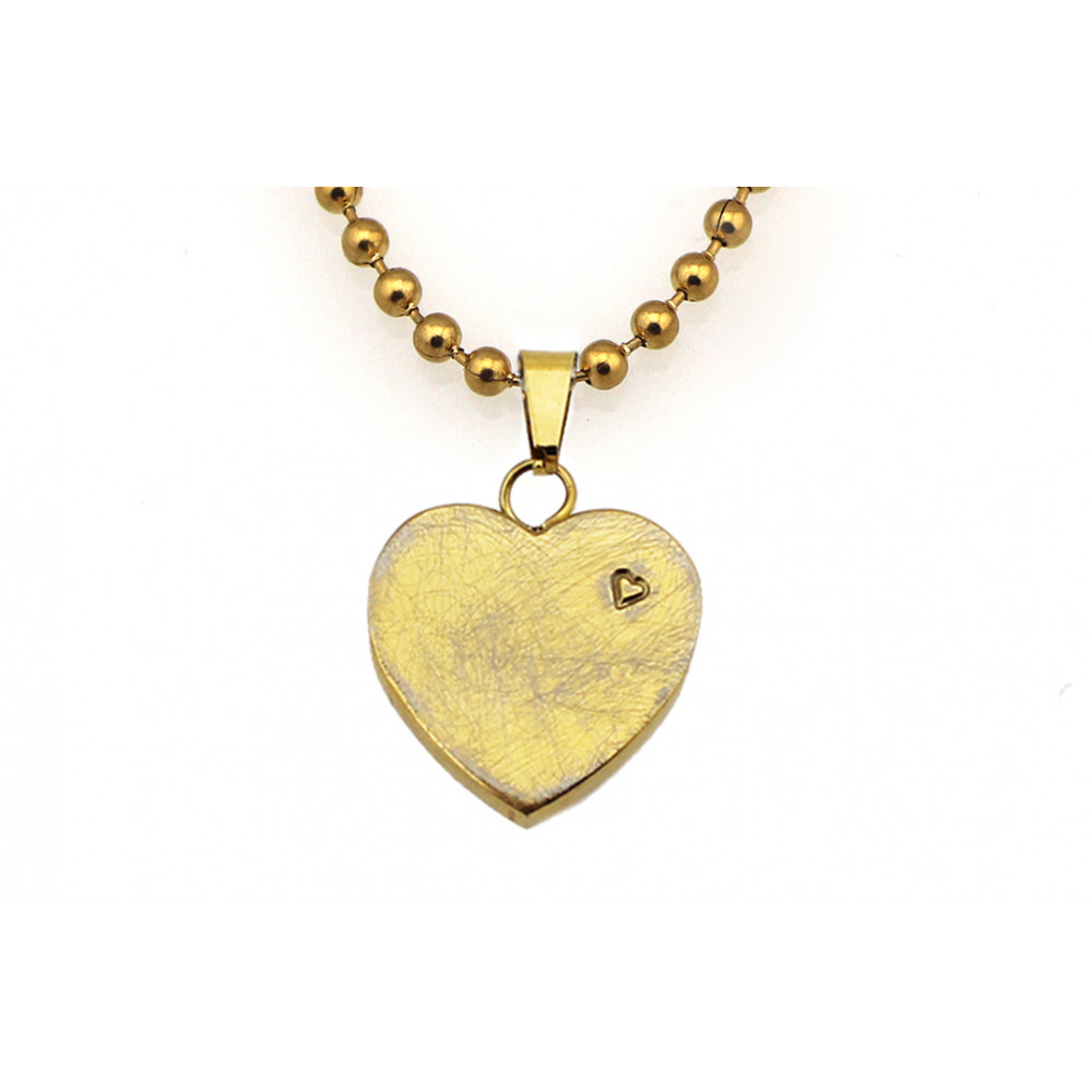 kOmMa5 necklace heart gold ♡