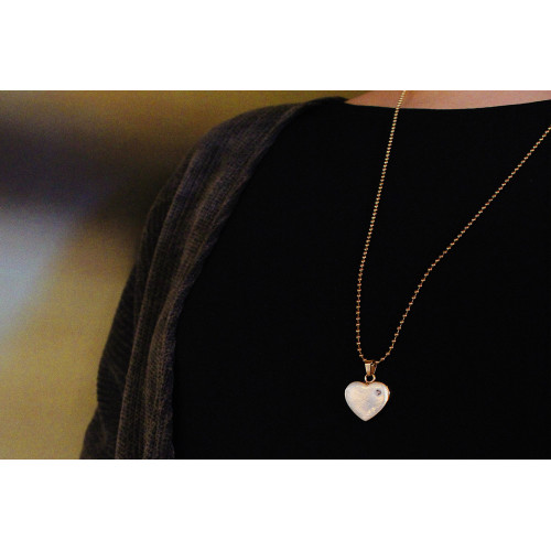 kOmMa5 Halskette Herz gold ♡
