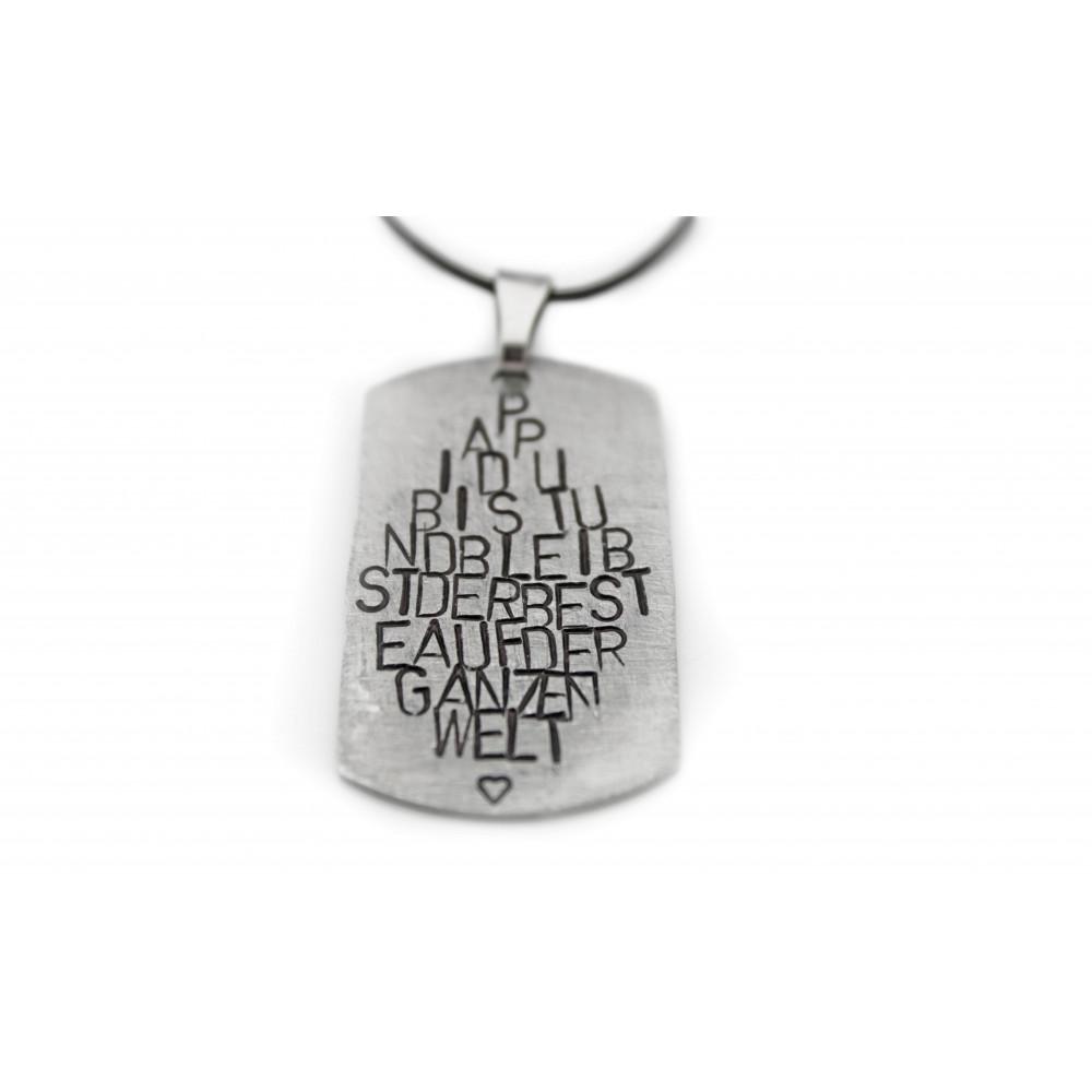 """kOmMa5 Navy-necklace """"Papi"""""""