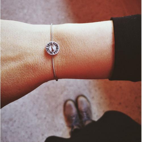 """kOmMa5 bracelet """"LEBE DEINE..."""