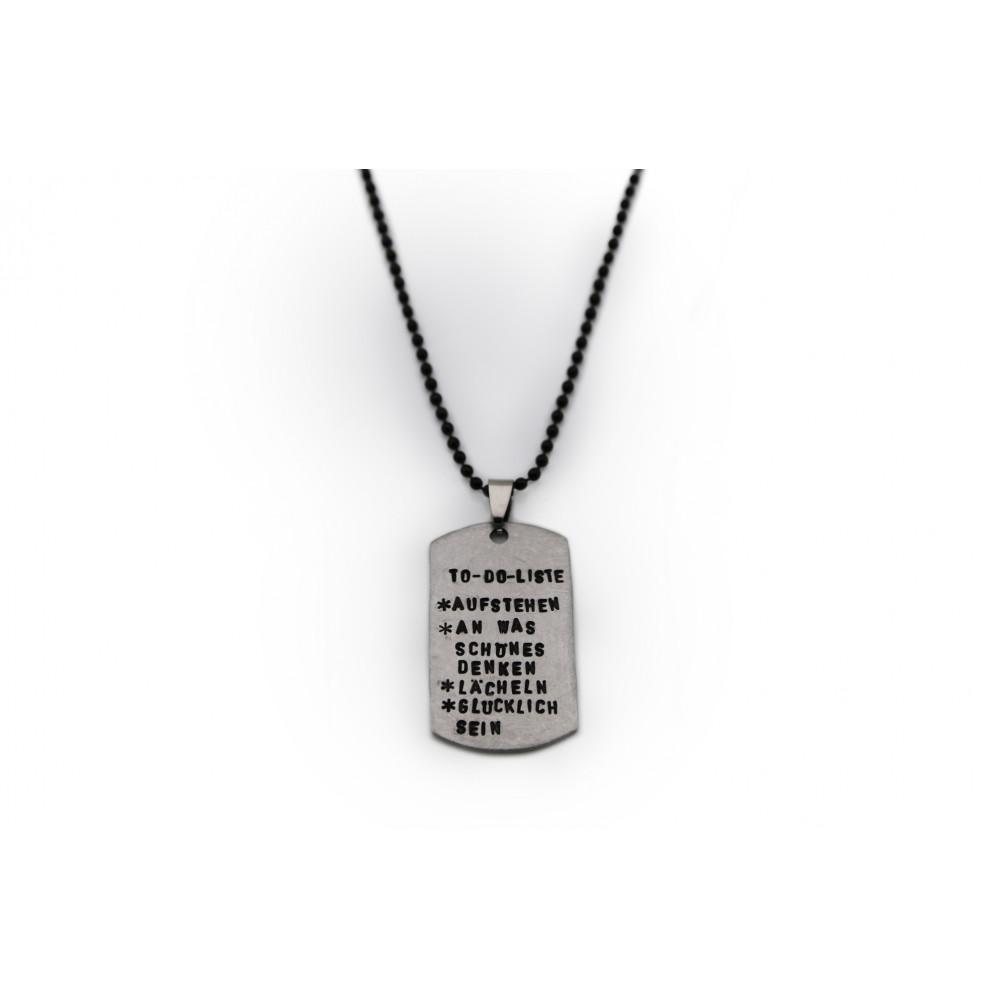 kOmMa5 Navy-Halskette...