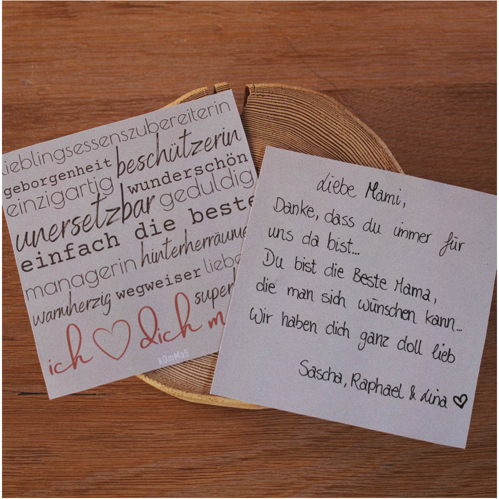 Muttertag-Geschenkkarte