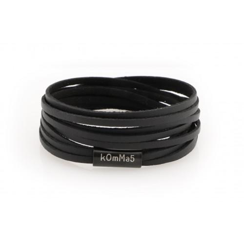 """kOmMa5 bracciale """"Nero"""""""