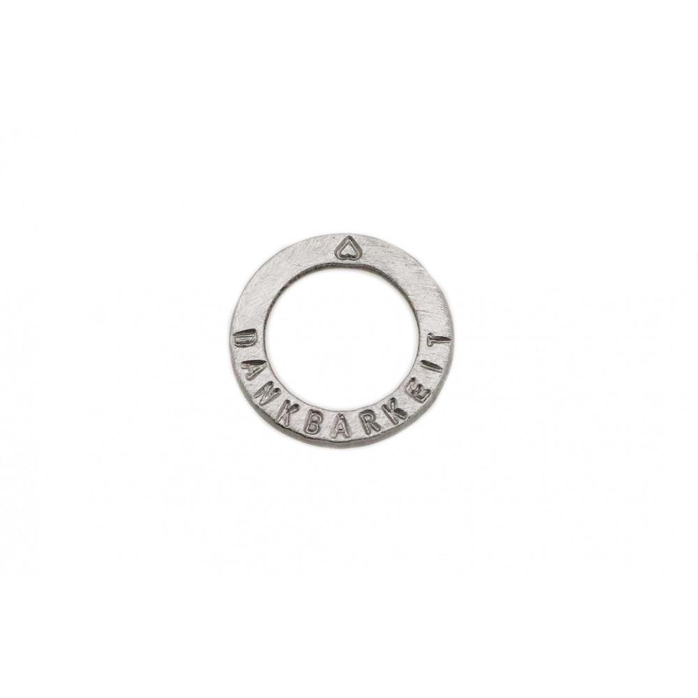 "kOmMa5 Ring 20 ""DANKBARKEIT♥"""