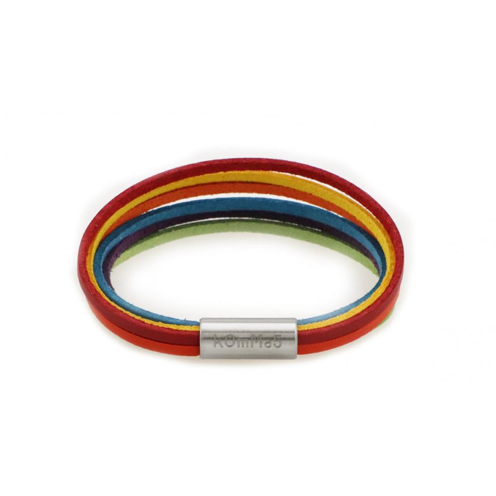 "kOmMa5 bracelet ""Regenbogen-e"""