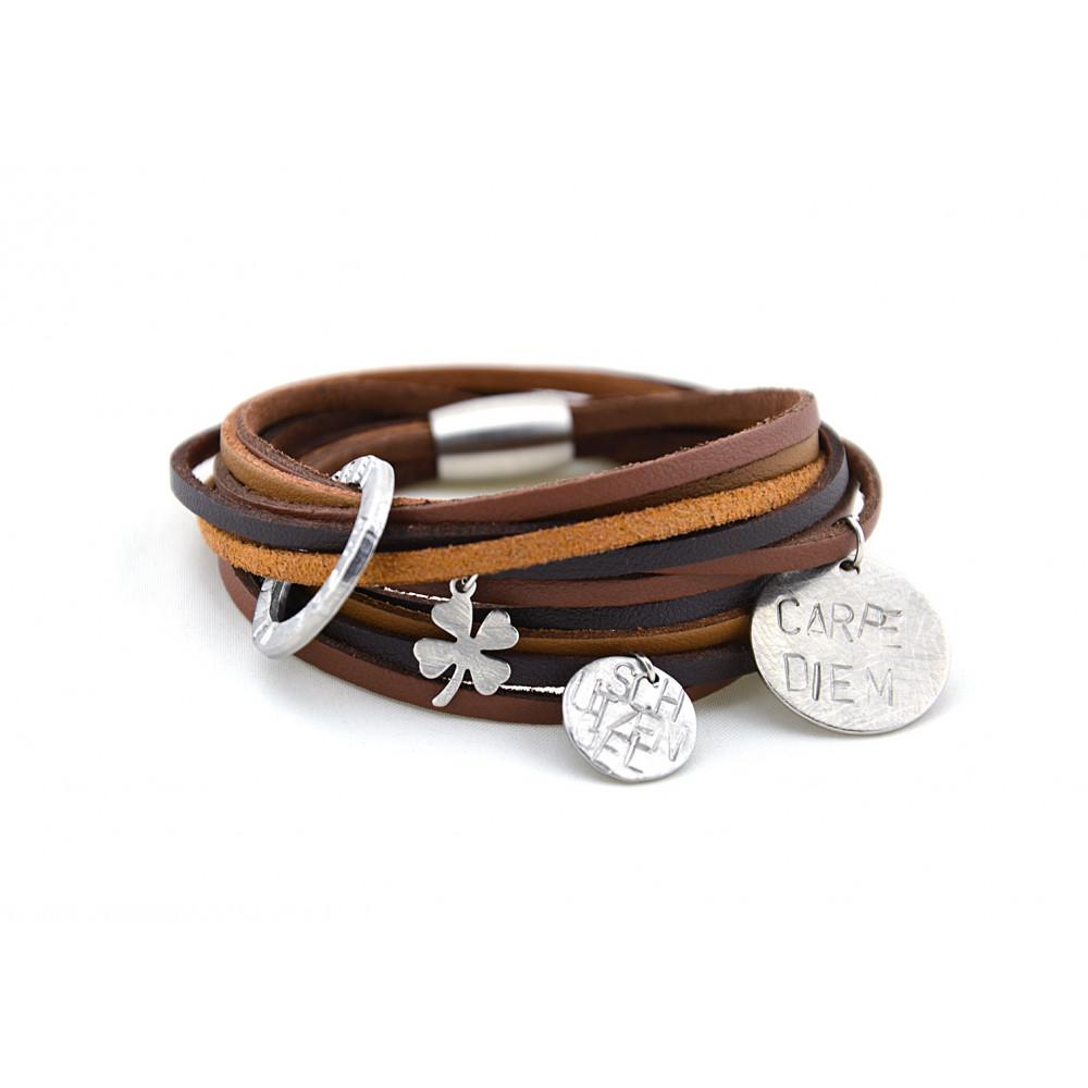 "kOmMa5 Armband ""Brownie"""