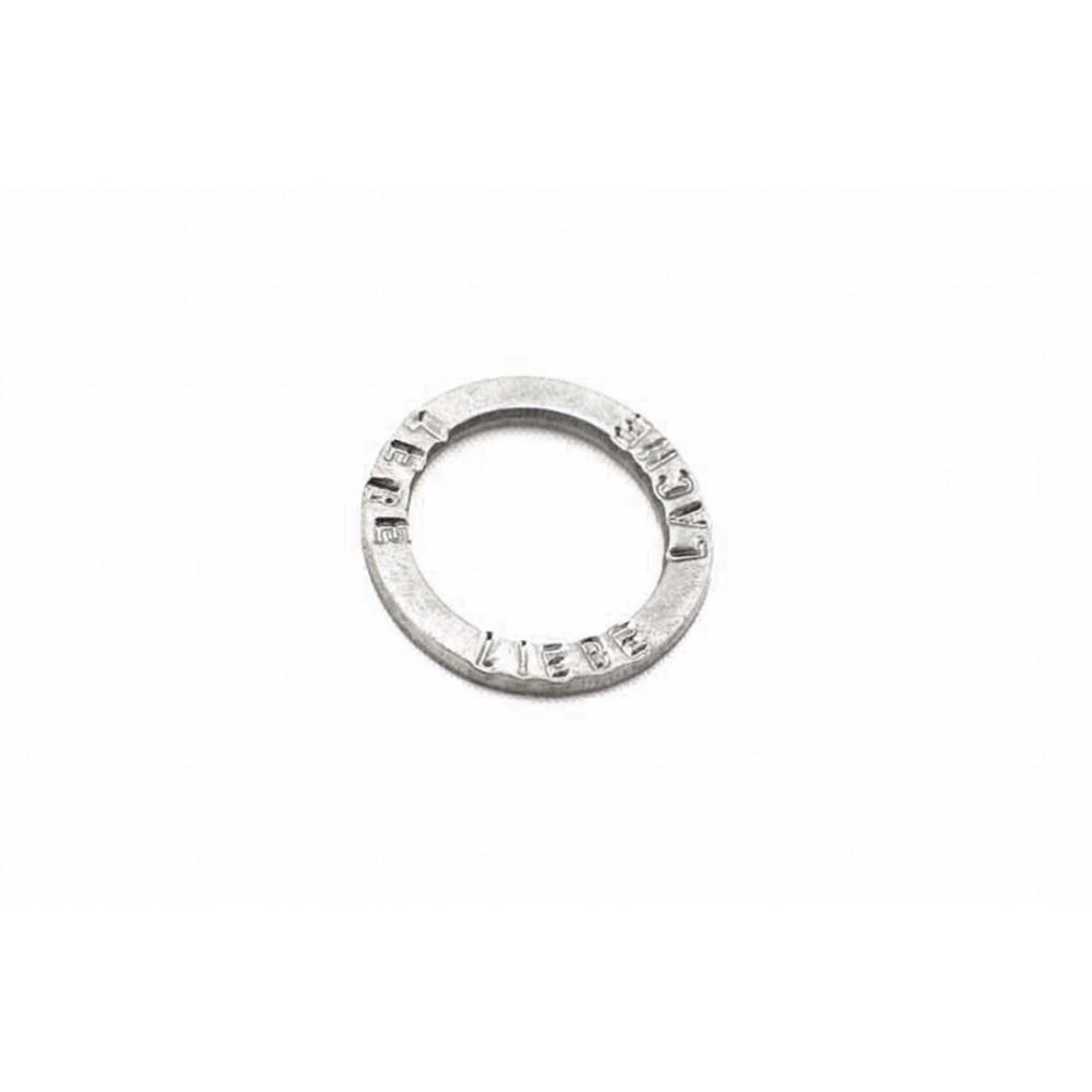 """Ring """"LEBE LIEBE LACHE"""""""