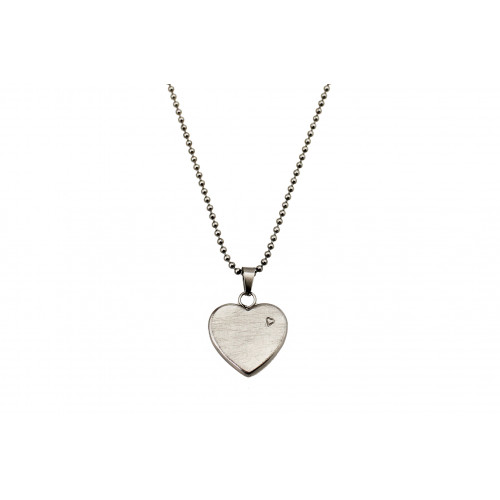 kOmMa5 necklace heart silver ♡