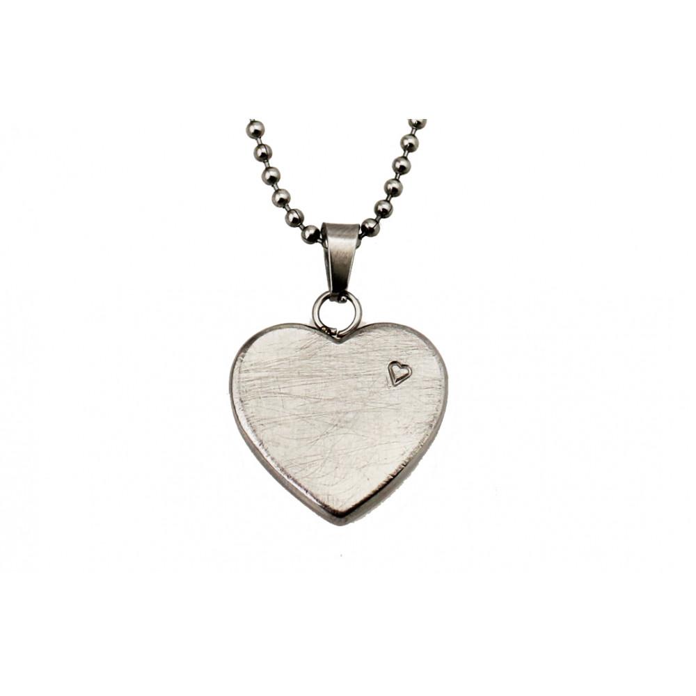 kOmMa5 collana cuore argento ♡